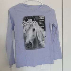 5 for 10 listing,  girls XL horse shirt